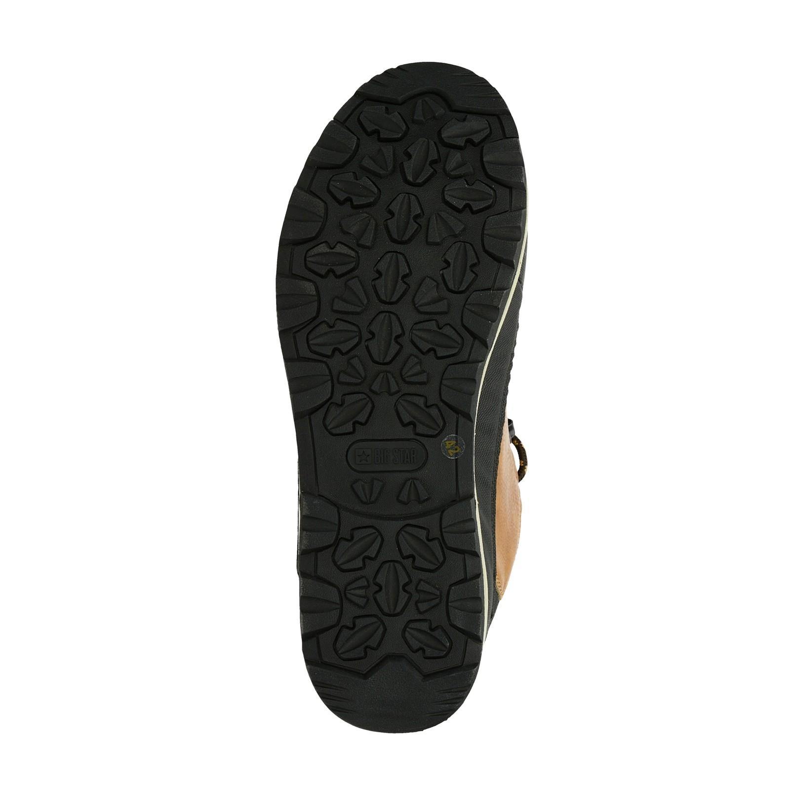 Big Star pánská stylová kotníková obuv - koňaková