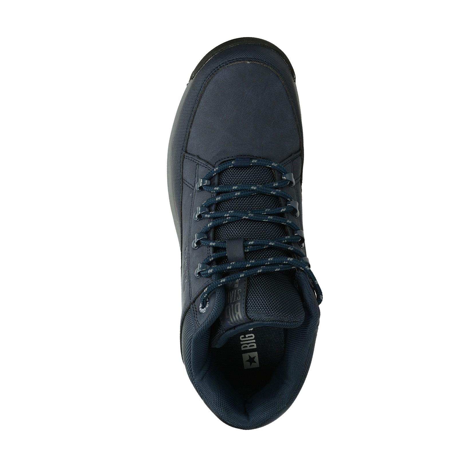 Big Star pánská stylová kotníková obuv - tmavomodrá