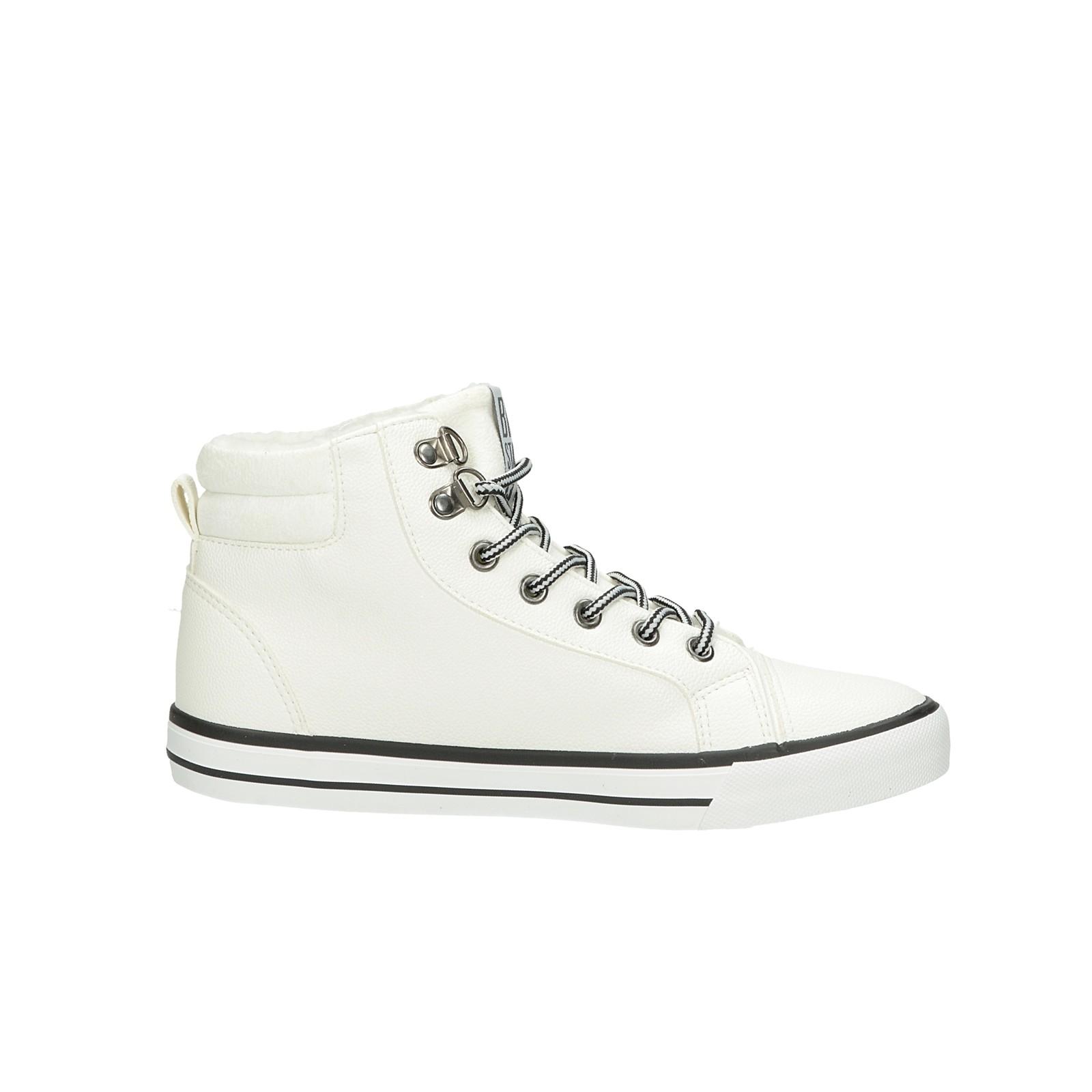 Big Star dámské stylové kotníkové boty - bílé