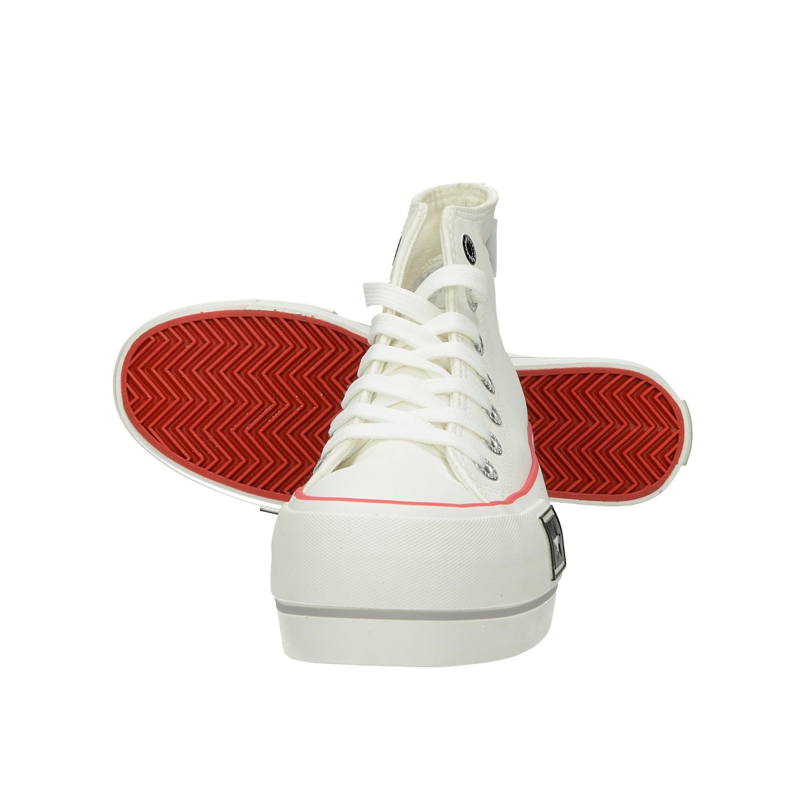 Big Star dámské vysoké tenisky - bílé