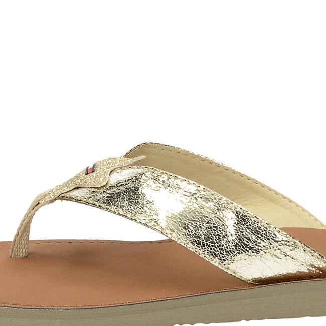 Tommy Hilfiger dáské elegantní nazouváky - zlaté