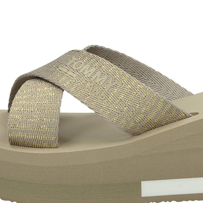 Tommy Hilfiger dámské elegantní nazouváky - béžové