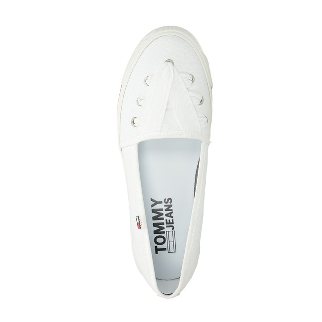 Tommy Hilfiger dámské pohodlné baleríny - bílé