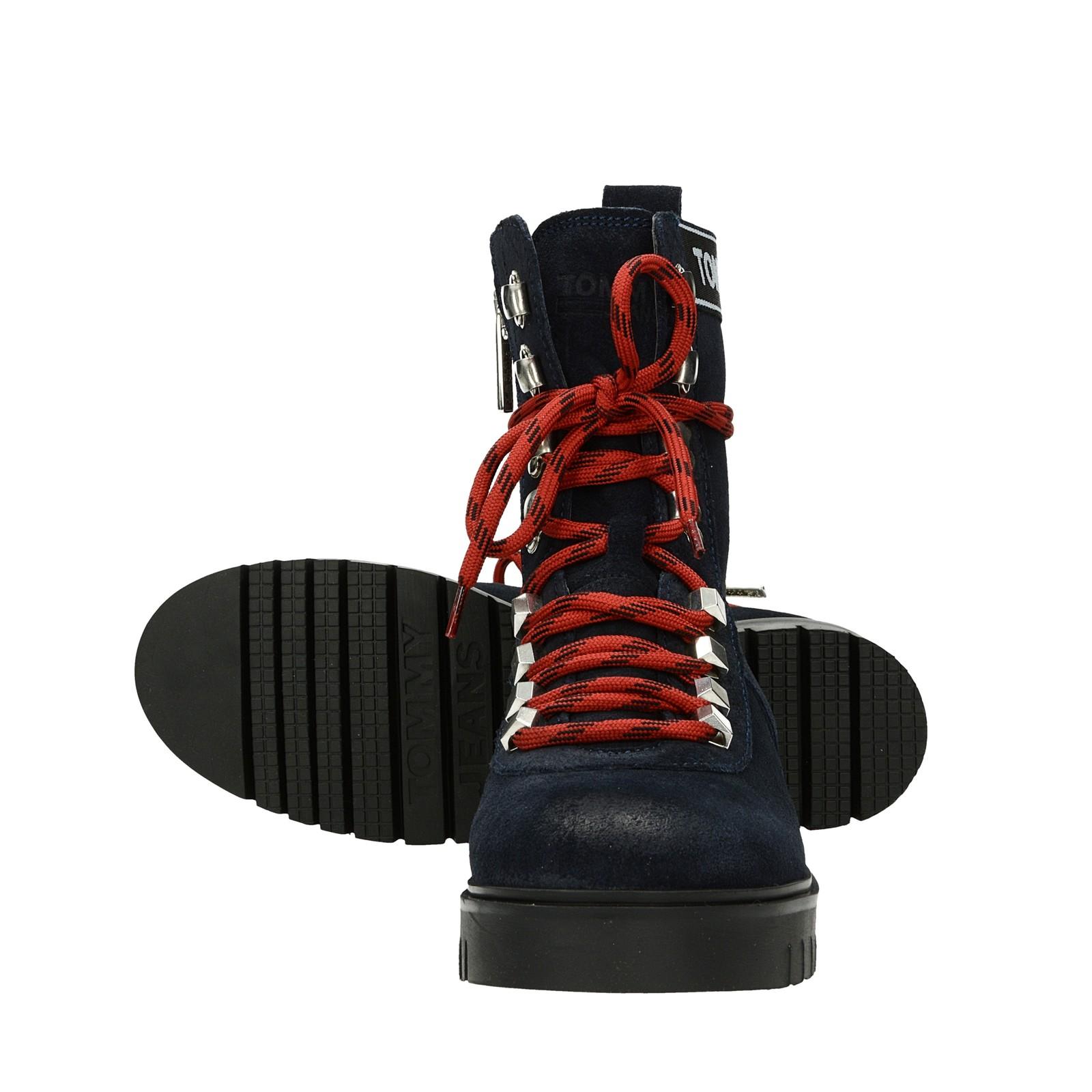 7525a1cee17 Tommy Hilfiger dámské vysoké kotníkové boty - modré ...