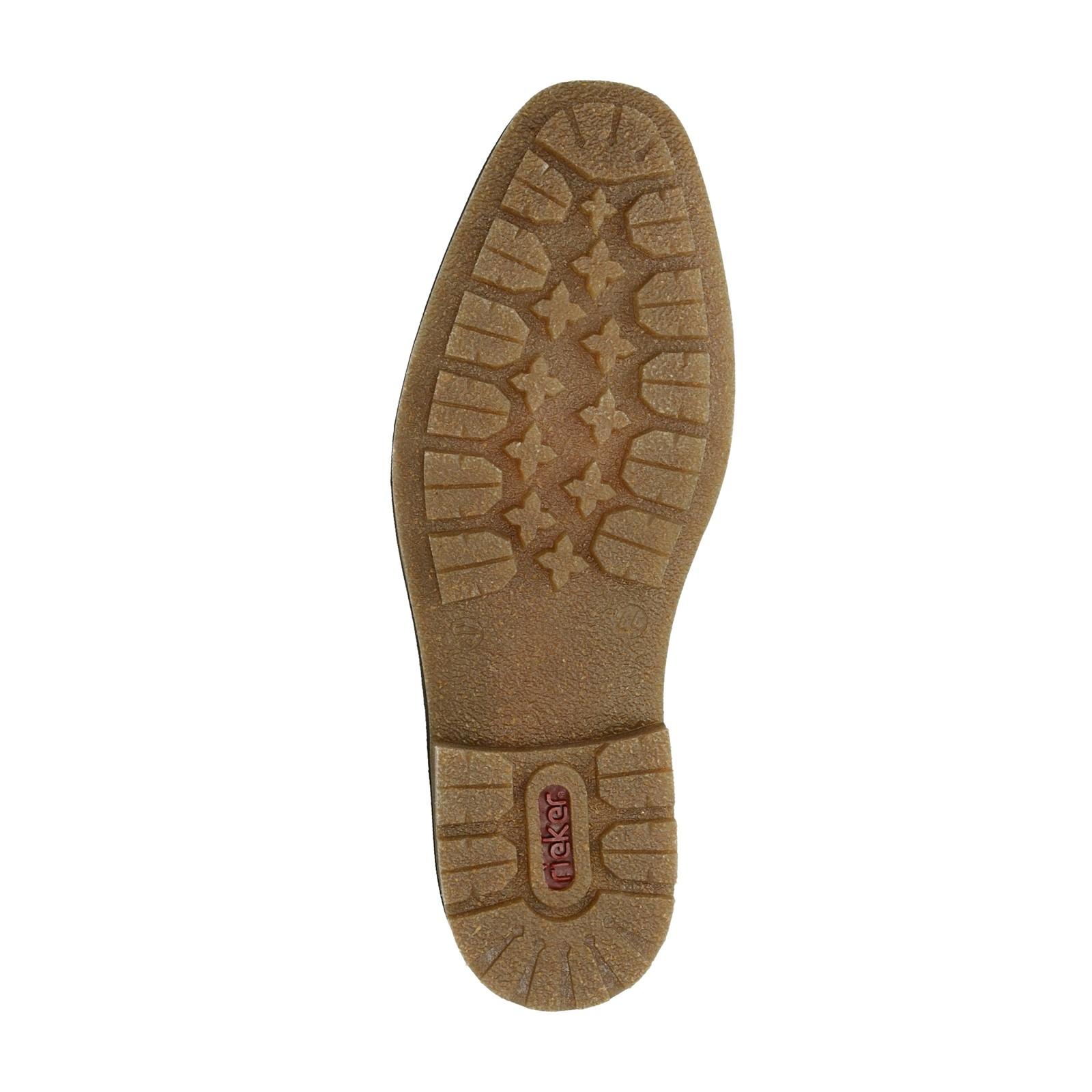 Rieker pánská kožená kotníková obuv - hnědá ... 460be29496b