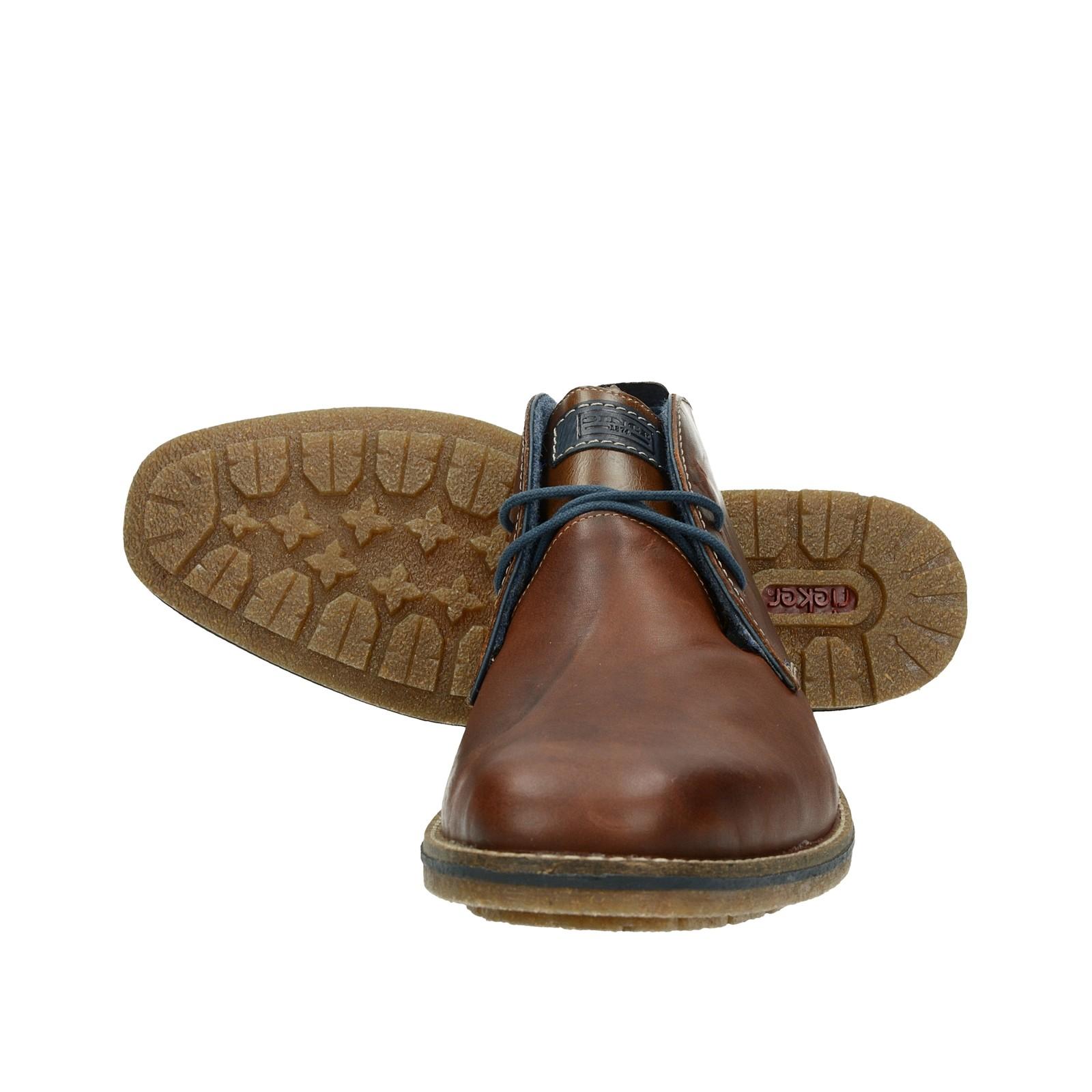 ... Rieker pánská kožená kotníková obuv - hnědá ... 3772cf8aa9a
