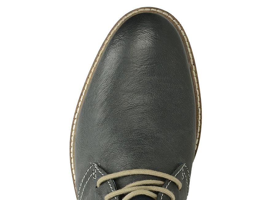 cf62153a1f ... Bugatti pánská kožená kotníková obuv - modrá ...