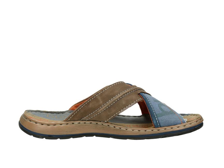 Bugatti pánské pantofle - modrohnědé
