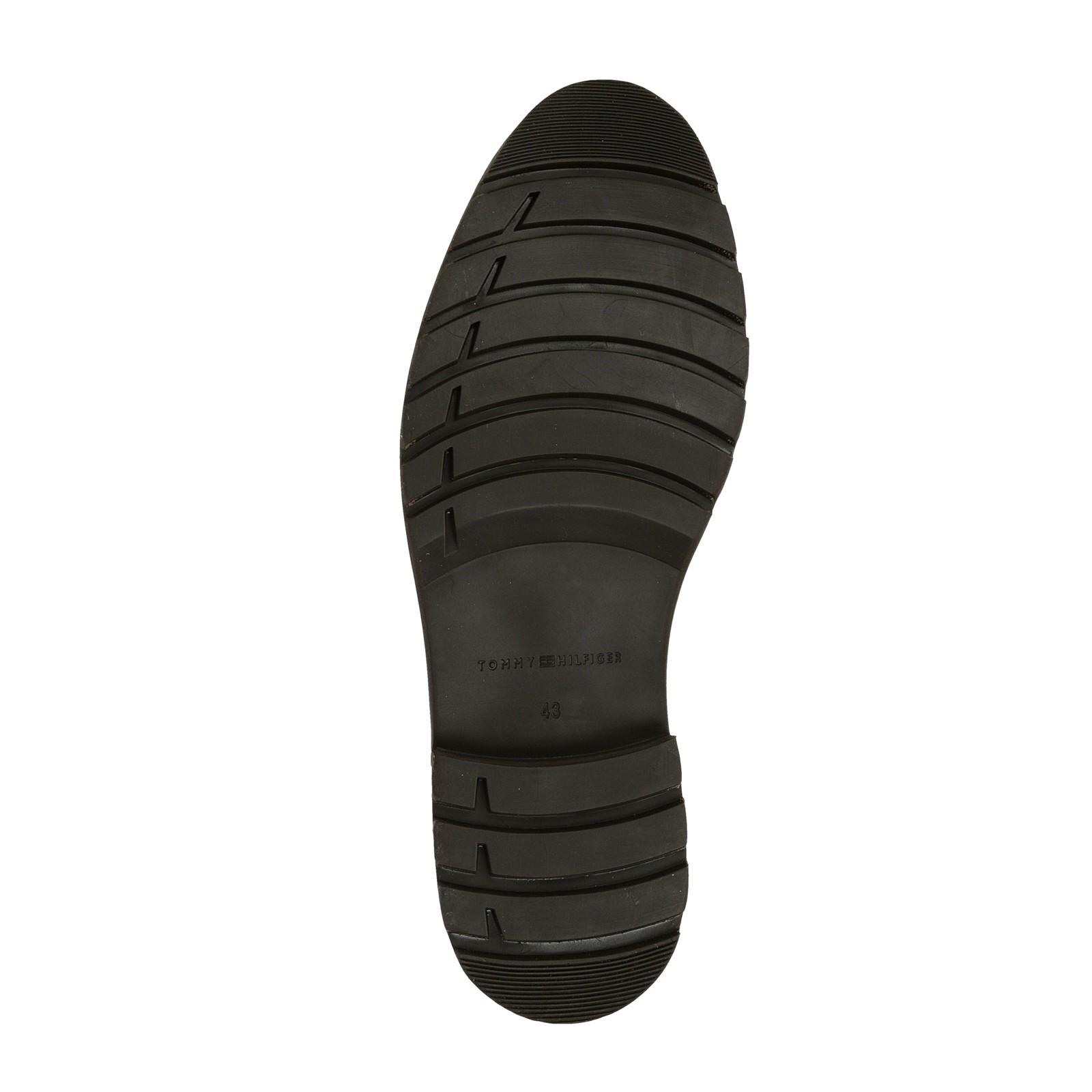 Tommy Hilfiger pánská kožená kotníková obuv - hnědá ... b33d4fe378