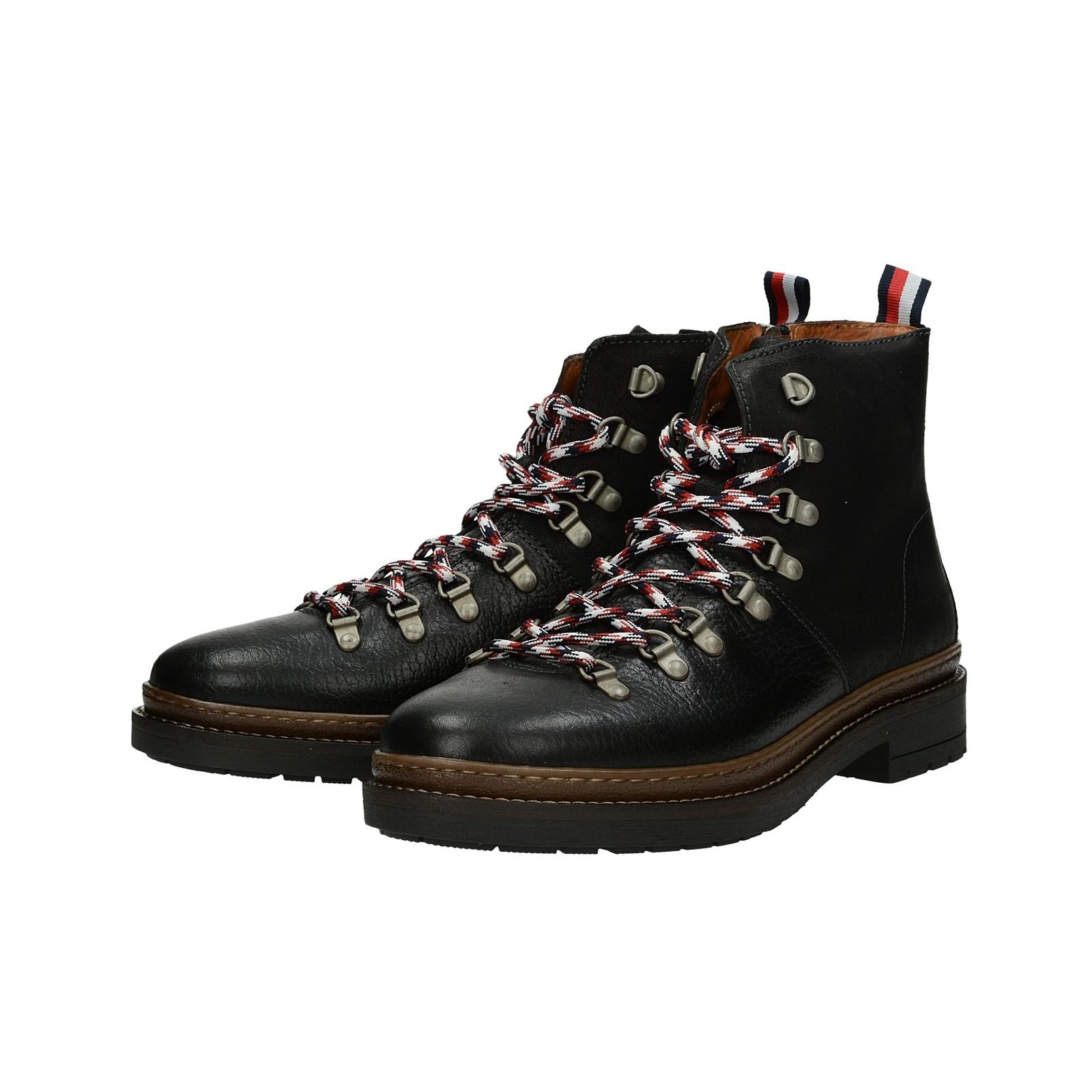 ... Tommy Hilfiger pánská kožená kotníková obuv - černá ... b975ec00a6