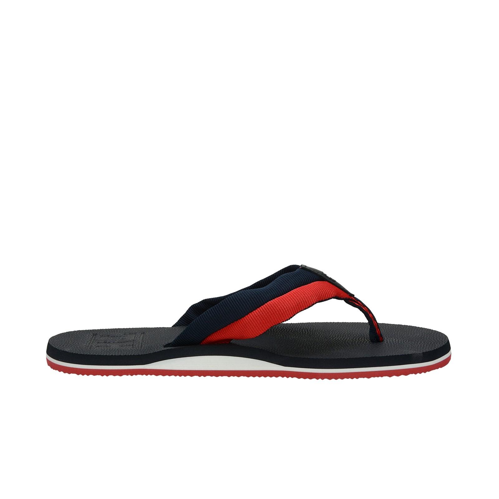 Tommy Hilfiger pánské stylové plážovky - tmavomodré