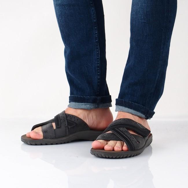 Inblu pánské pohodlné nazouváky - šedé