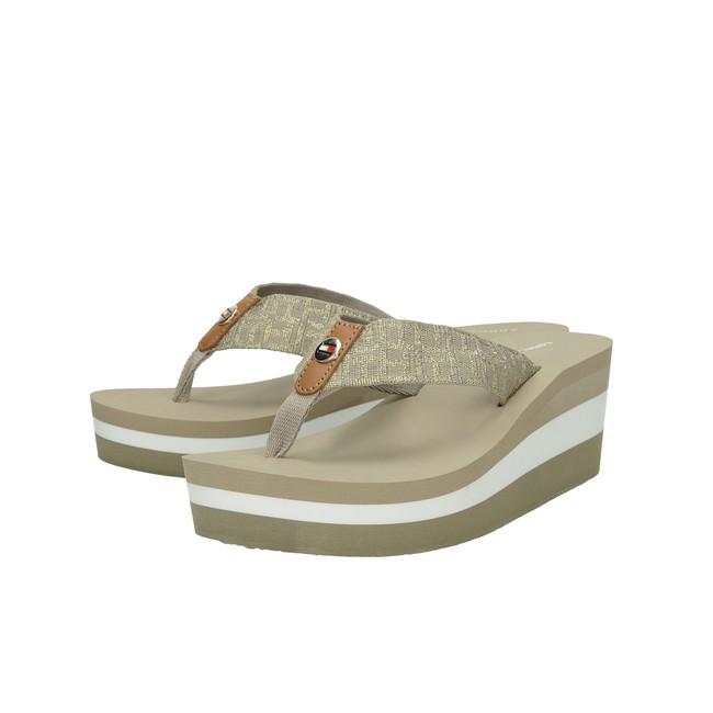 Tommy Hilfiger dámské stylové plážovky - béžové