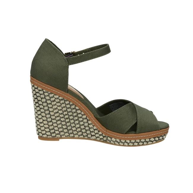 ca236e70950 Tommy Hilfiger dámské stylové sandály - olivové ...