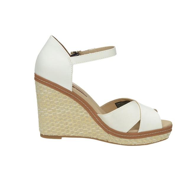 6cc7c35c62f Tommy Hilfiger dámské stylové sandály na klinové podrážce - bílé ...
