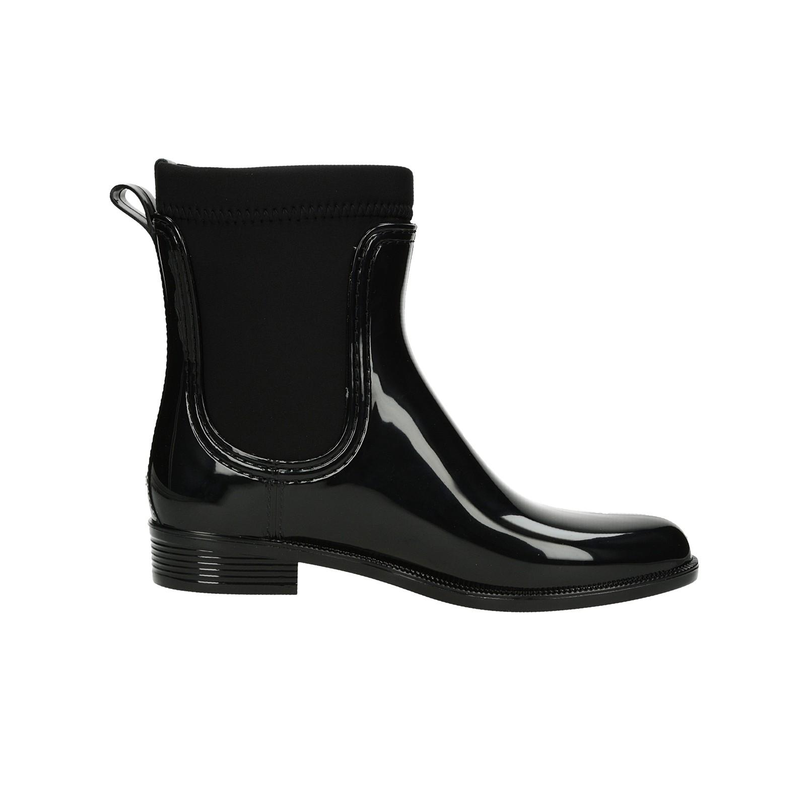 Tommy Hilfiger dámské gumové kotníkové boty - černé ... 5b1b6386e19