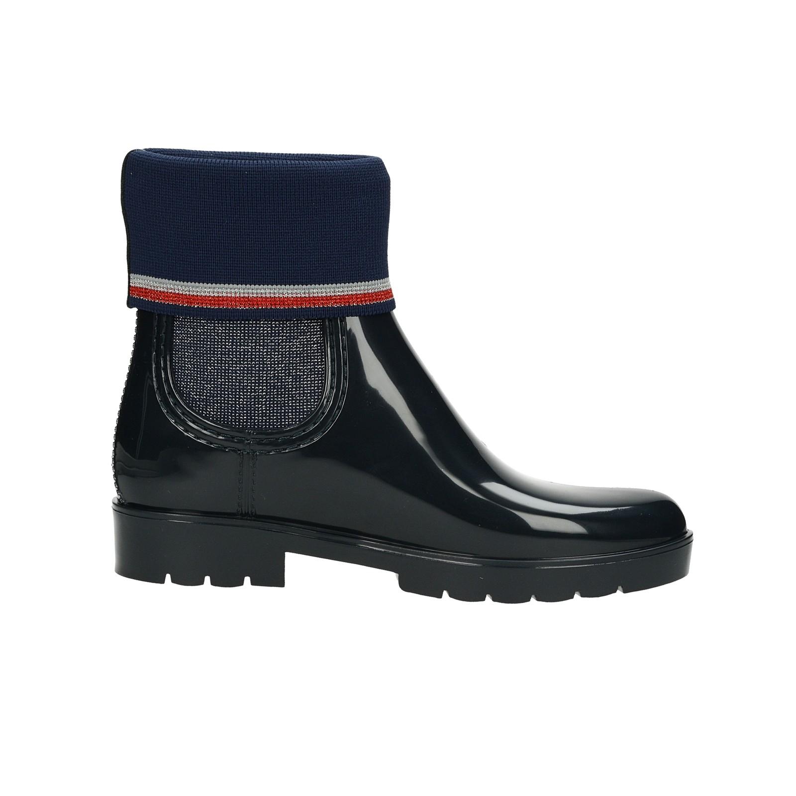Tommy Hilfiger dámské gumové kotníkové boty - modré ... 234caf07982