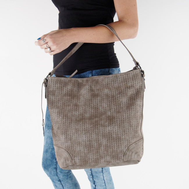 ... Rieker dámská velká kabelka na zip - hnědá ... 6c367878d2a