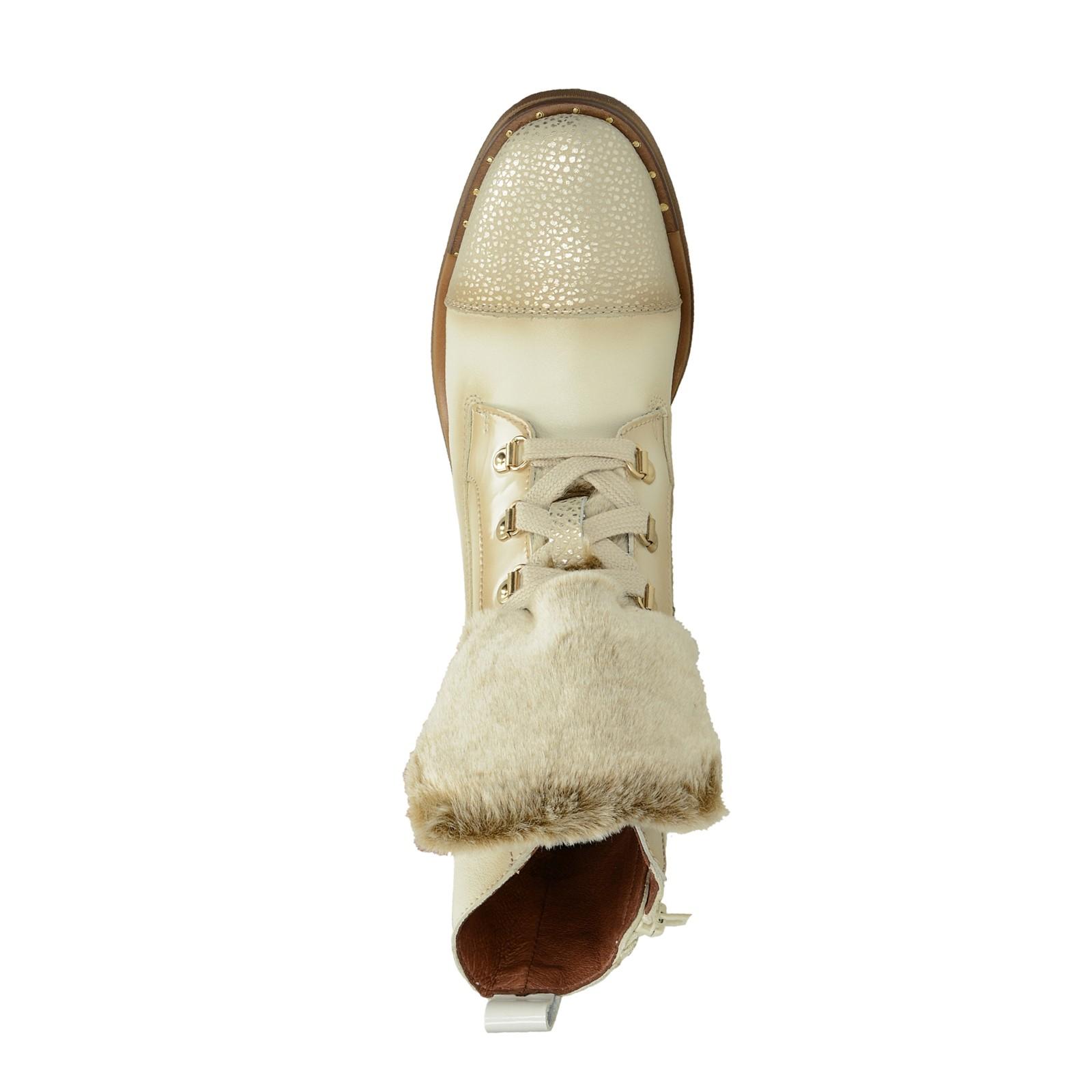 Hispanitas dámské stylové kotníkové boty - béžové