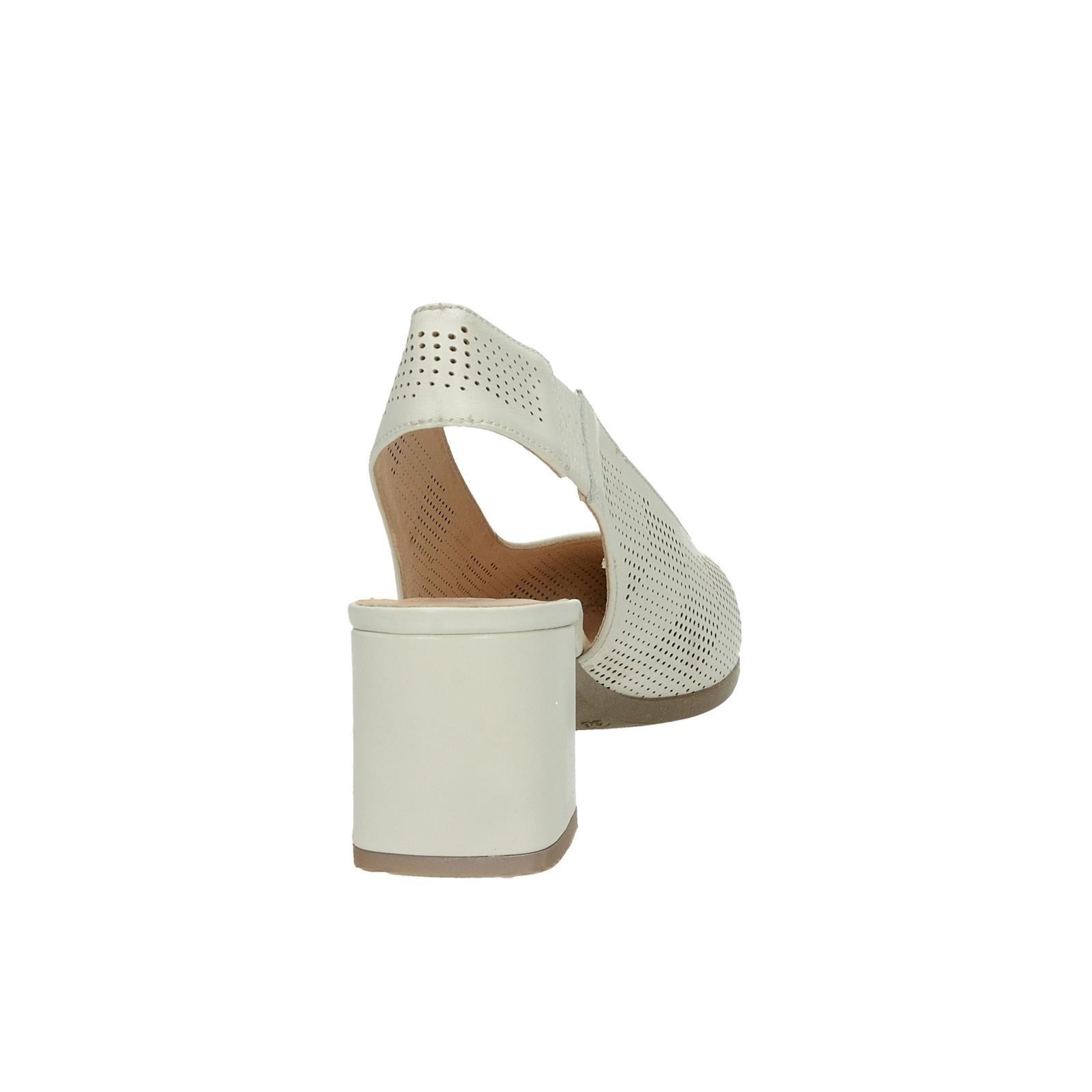 c0c2323d92 ... Hispanitas dámské kožené perforované sandály - béžové ...