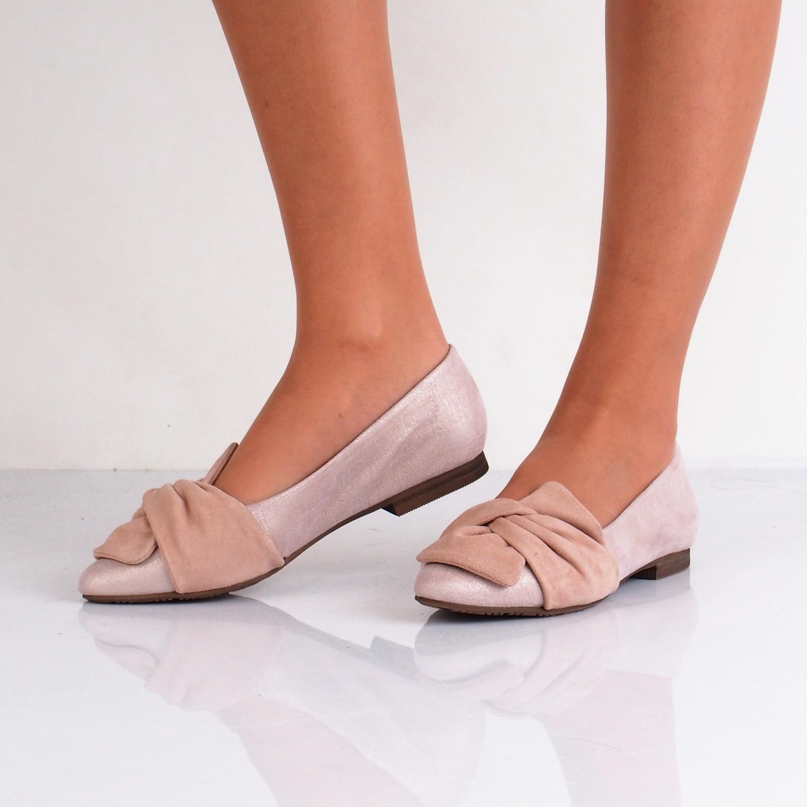 Regarde le ciel dámské kožené balerínky - růžové