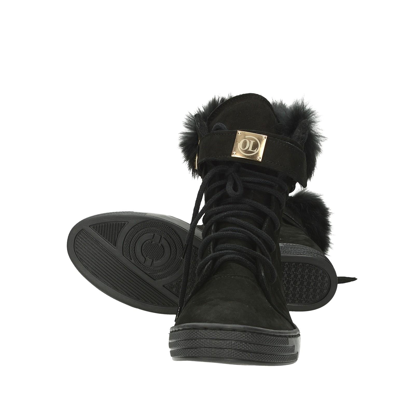 4b0f2ecc2ac ... Olivia shoes dámské stylové kotníkové boty na suchý zip - černé ...