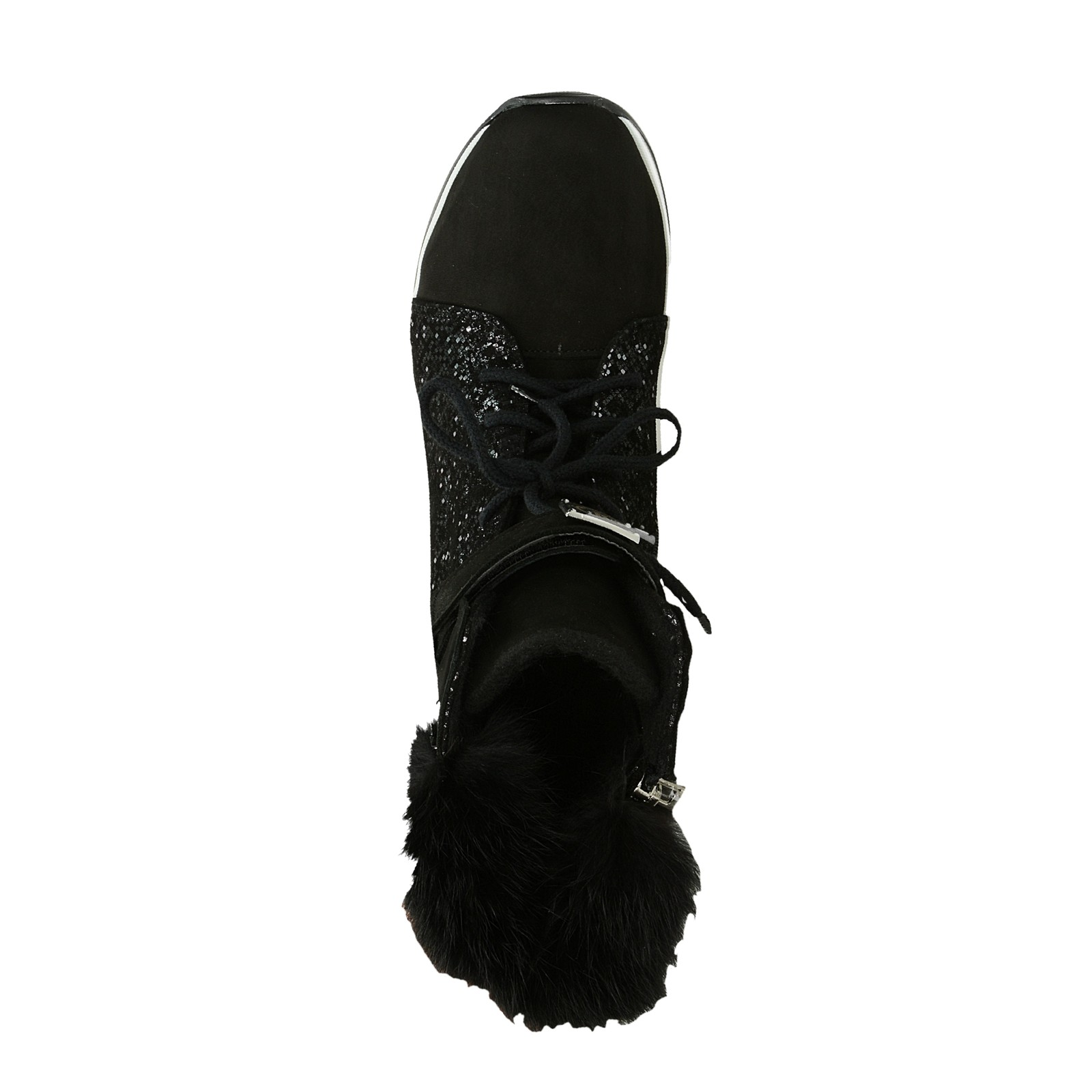 Olivia shoes dámské nubukové kotníkové boty na suchý zip - černé ... 753a9d15d3