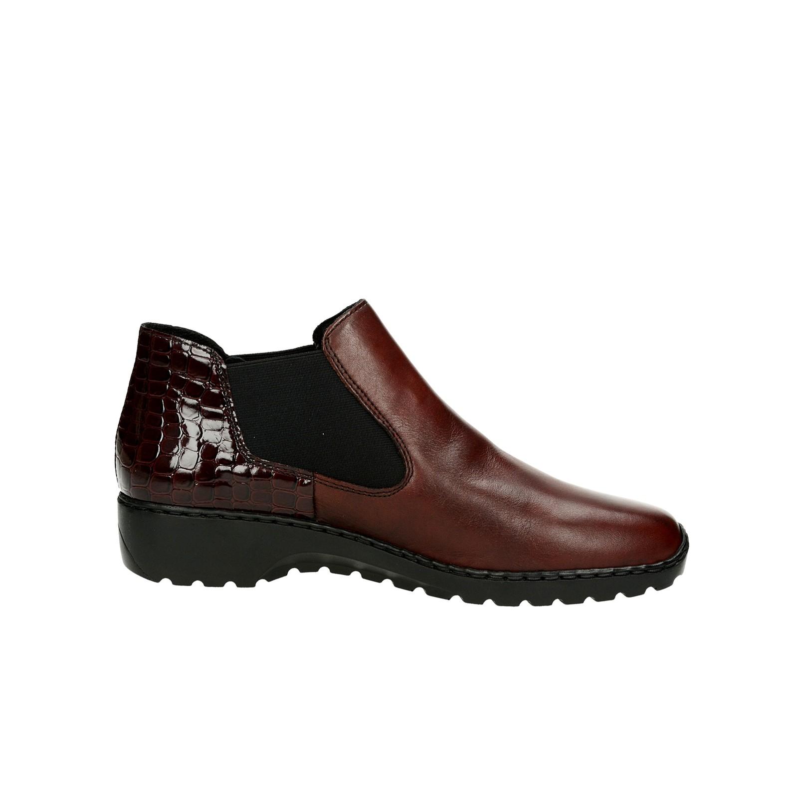 Rieker dámské kotníkové boty - bordó ... 607adee82a