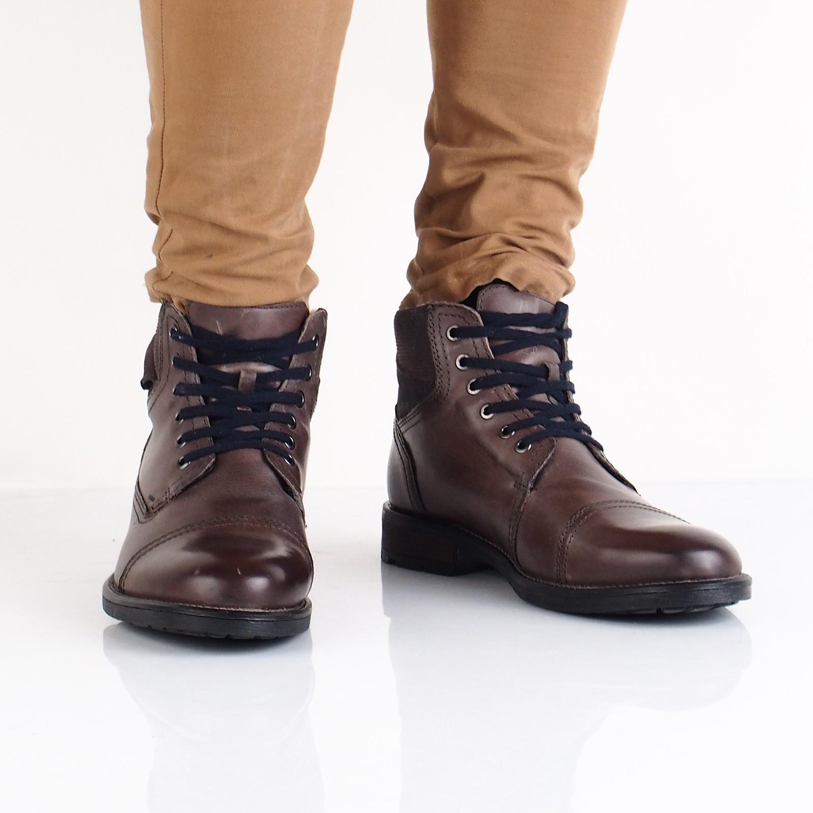 9b65af64c6 Klondike pánská kožená kotníková obuv - hnědá ...