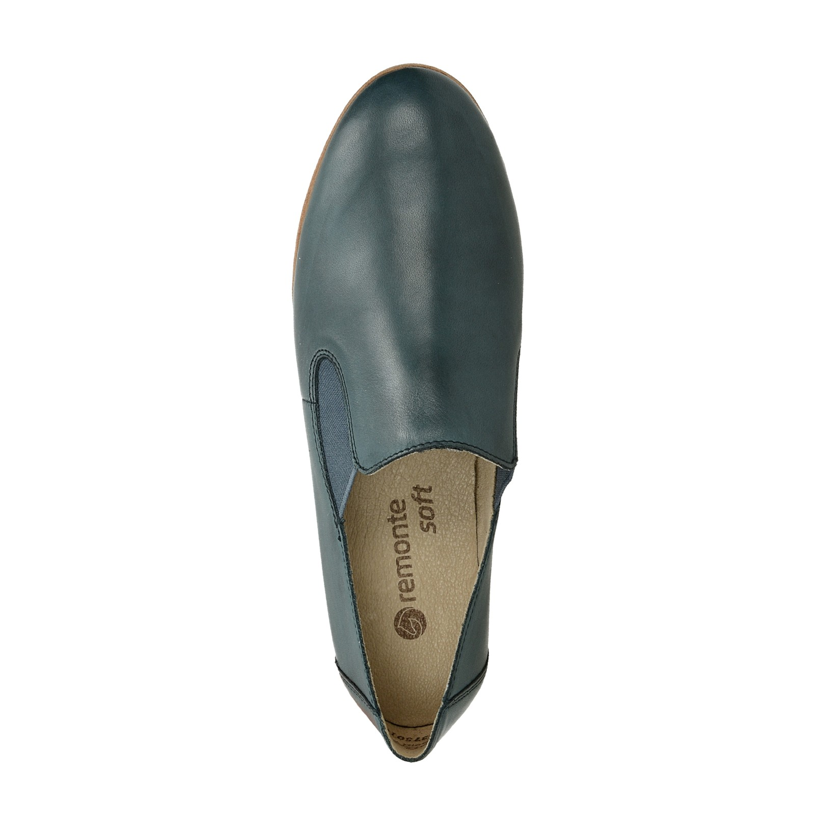 Remonte dámské kožené polobotky - modré ... 763af03804
