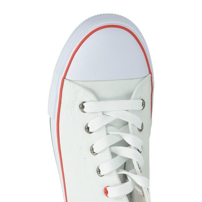 Big Star pánské pohodlné plátěné tenisky - bílé