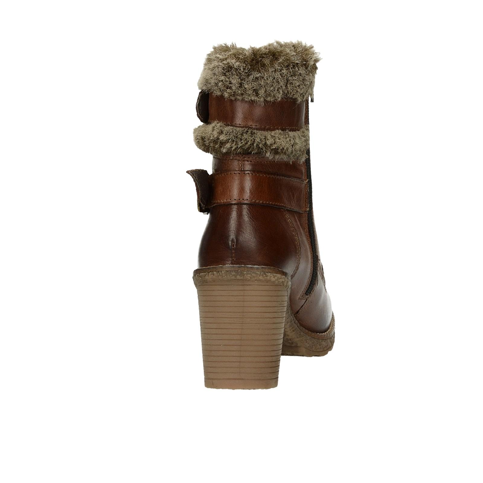 bf66ba6260 ... Klondike dámské kožené kotníkové boty - hnědé ...