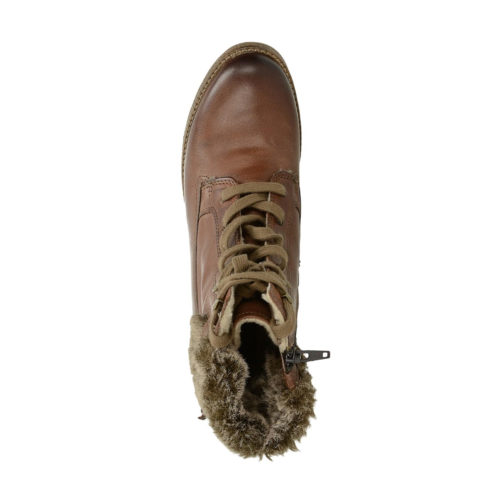 dd11354f9f Klondike dámské kožené kotníkové boty - hnědé ...