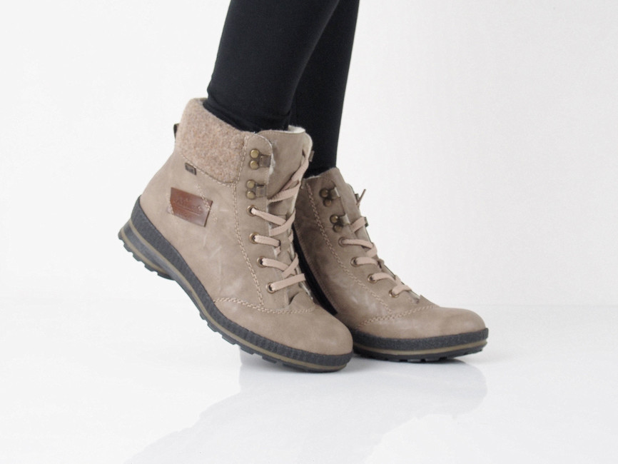 9364afdc23e Rieker dámské zimní kotníkové boty - běžové ...