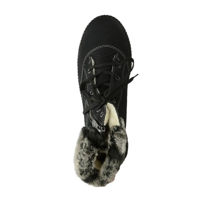 f1886c44927 Rieker dámské zimní kotníkové boty s kožešinou - černé ...