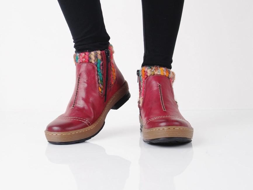 9270a02f496 Rieker dámské kotníkové boty - červené ...