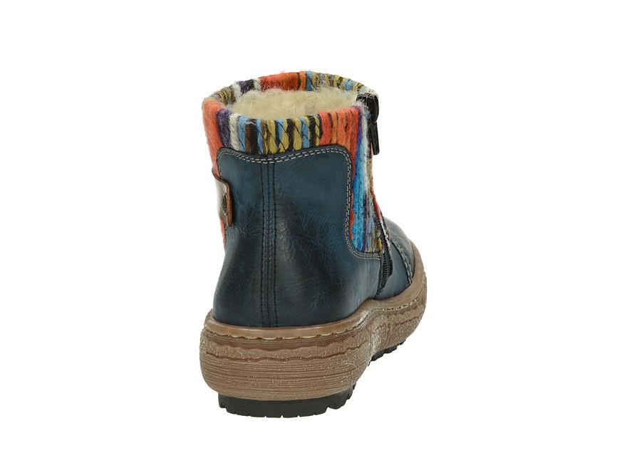 ce2c7c80048 ... Rieker dámské zateplené kotníkové boty - modré ...