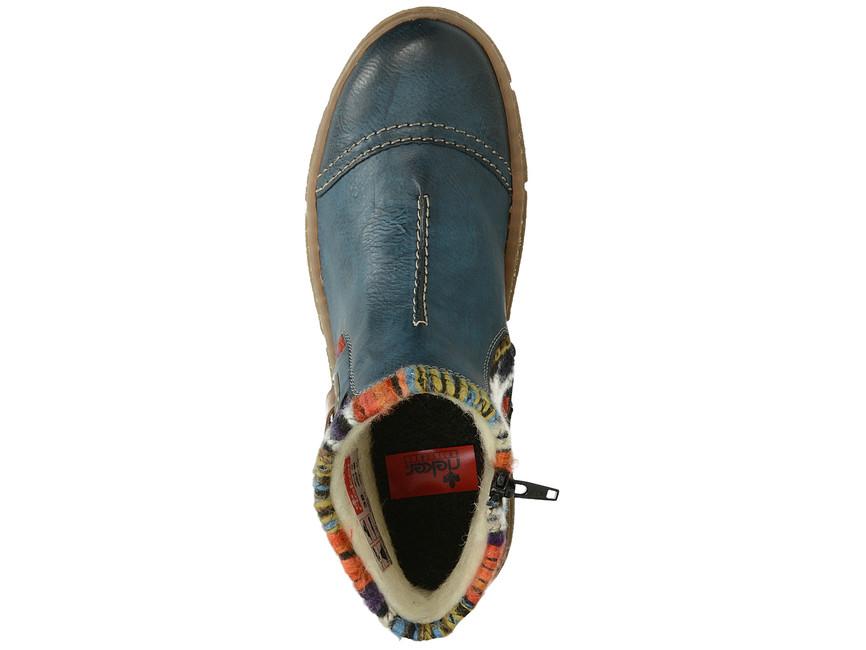 fda4babf368 Rieker dámské zateplené kotníkové boty - modré ...