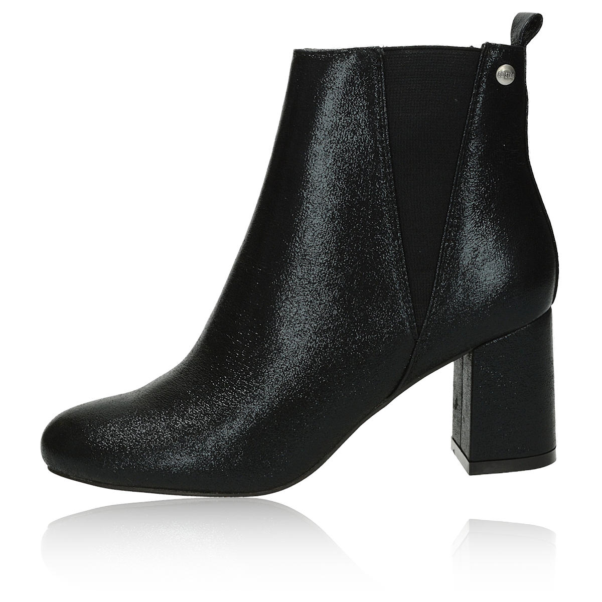 Big Star dámské kotníkové boty na podpatku - černé