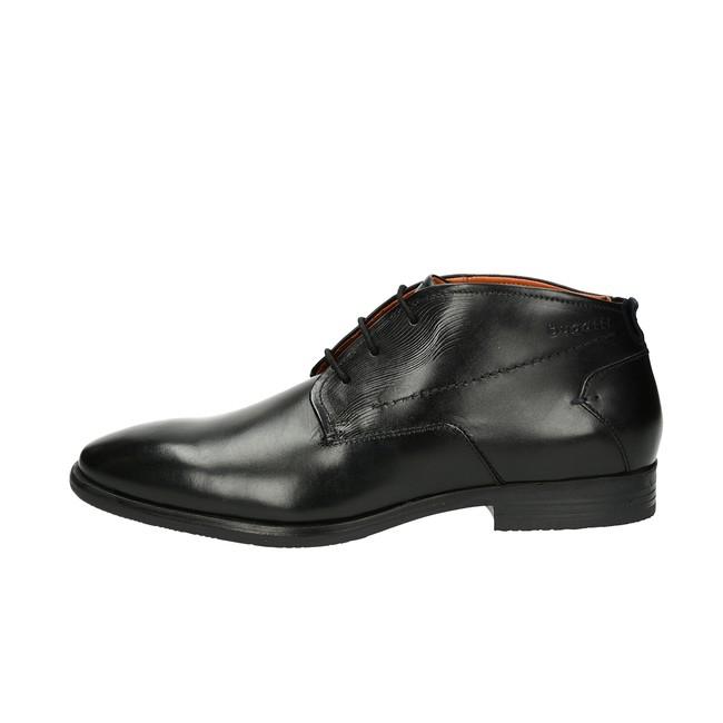 1b60e4e744c ... Bugatti pánská kožená kotníková obuv - černá ...
