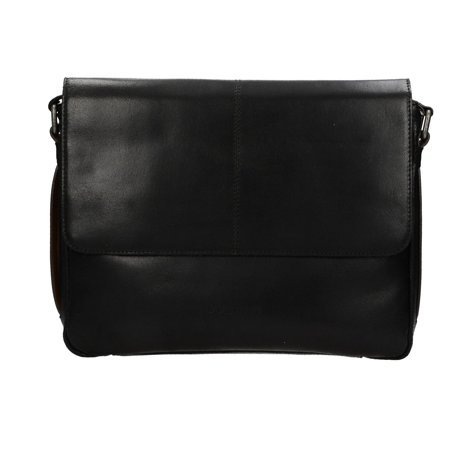 ea2de940497 Bugatti pánská kožená notebooková taška - černá ...