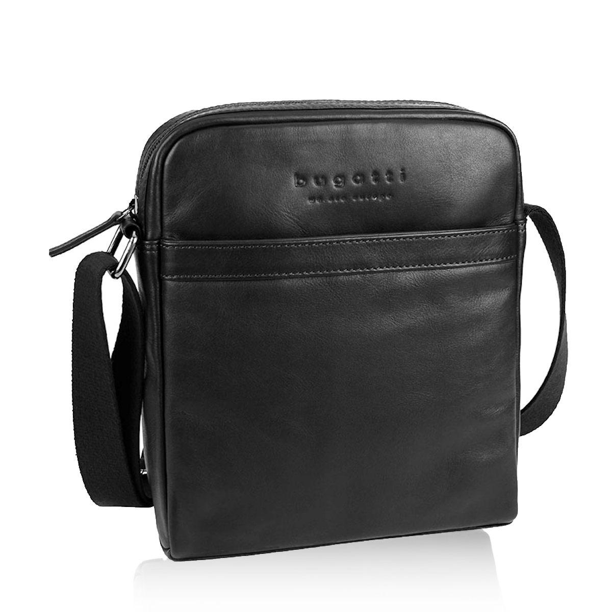 Bugatti pánská kožená taška - černá