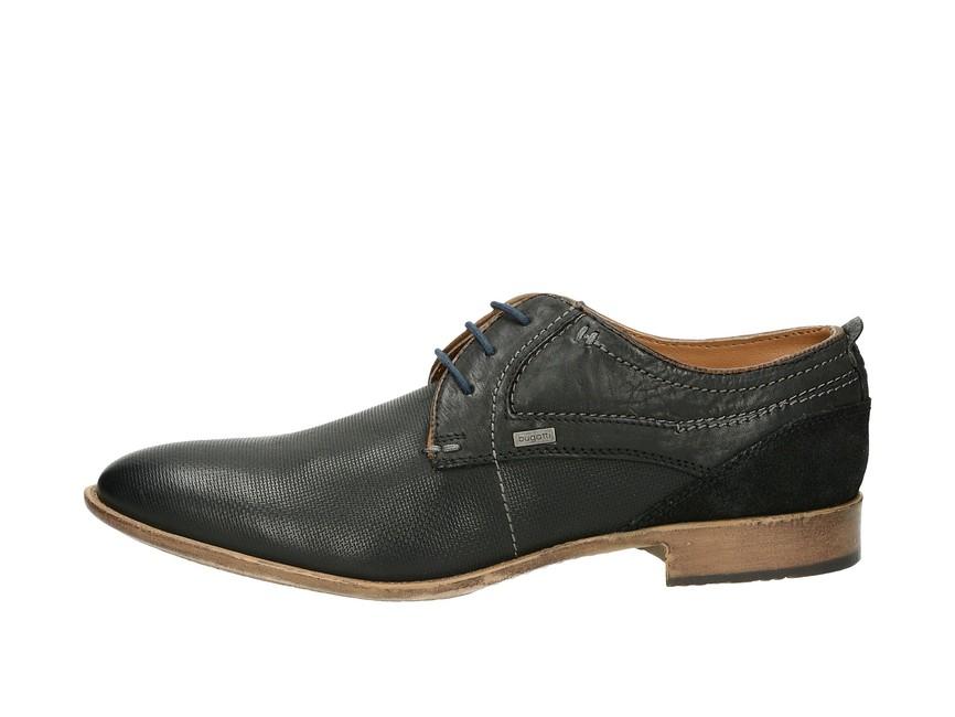 ... Bugatti pánské kožené společenské boty - černé ... 5c193d3cd6