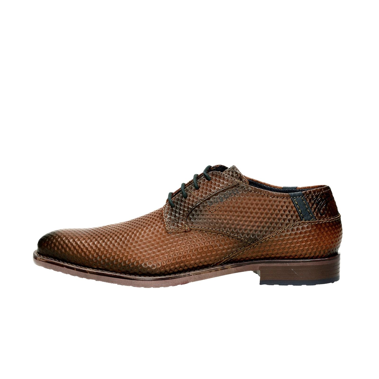 215844a3a33 ... Bugatti pánské společenské kožené boty - hnědé ...