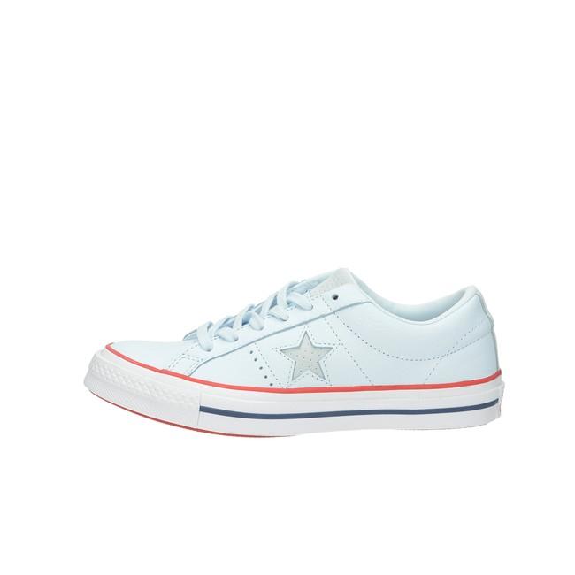 Boty. Converse dámské kožené tenisky - modré ... 905b6ae57e