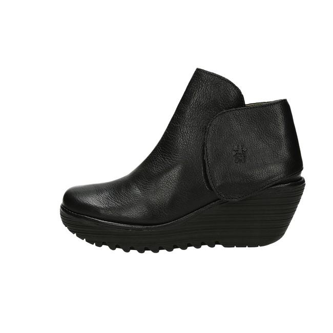 Fly London dámské módní kotníkové boty - černé ... d4214941c4