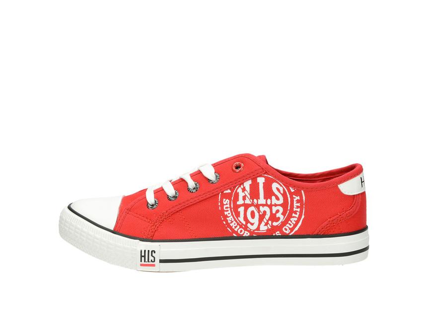 H.I.S. dámské plátěné tenisky - červené H.I.S. dámské plátěné tenisky -  červené ... b094042ed83
