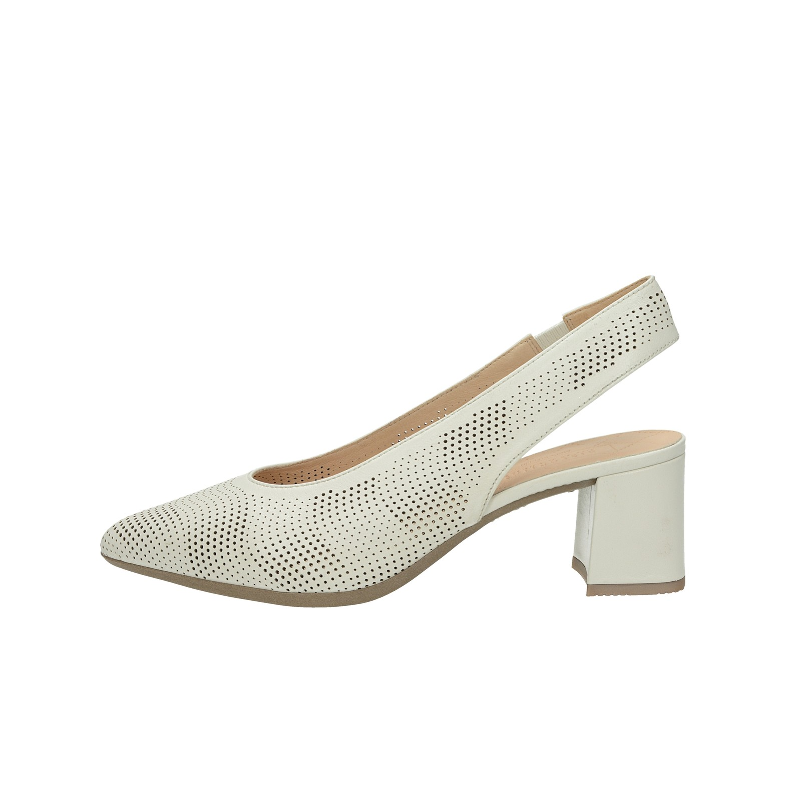5dd495fe0e Hispanitas dámské kožené perforované sandály - béžové Hispanitas dámské  kožené perforované sandály - béžové ...
