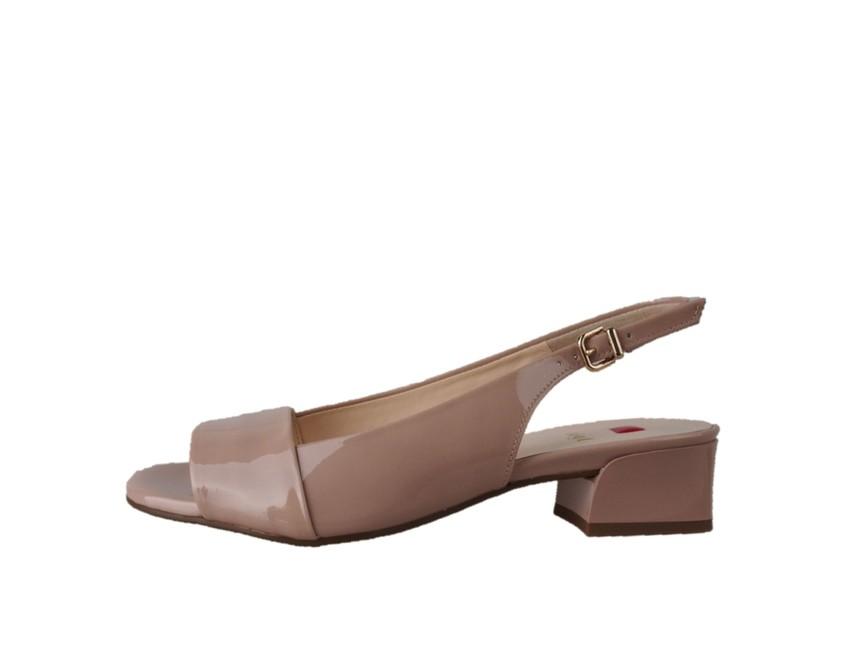 Högl dámské lakované sandály - běžové ... 9b2196ca6c