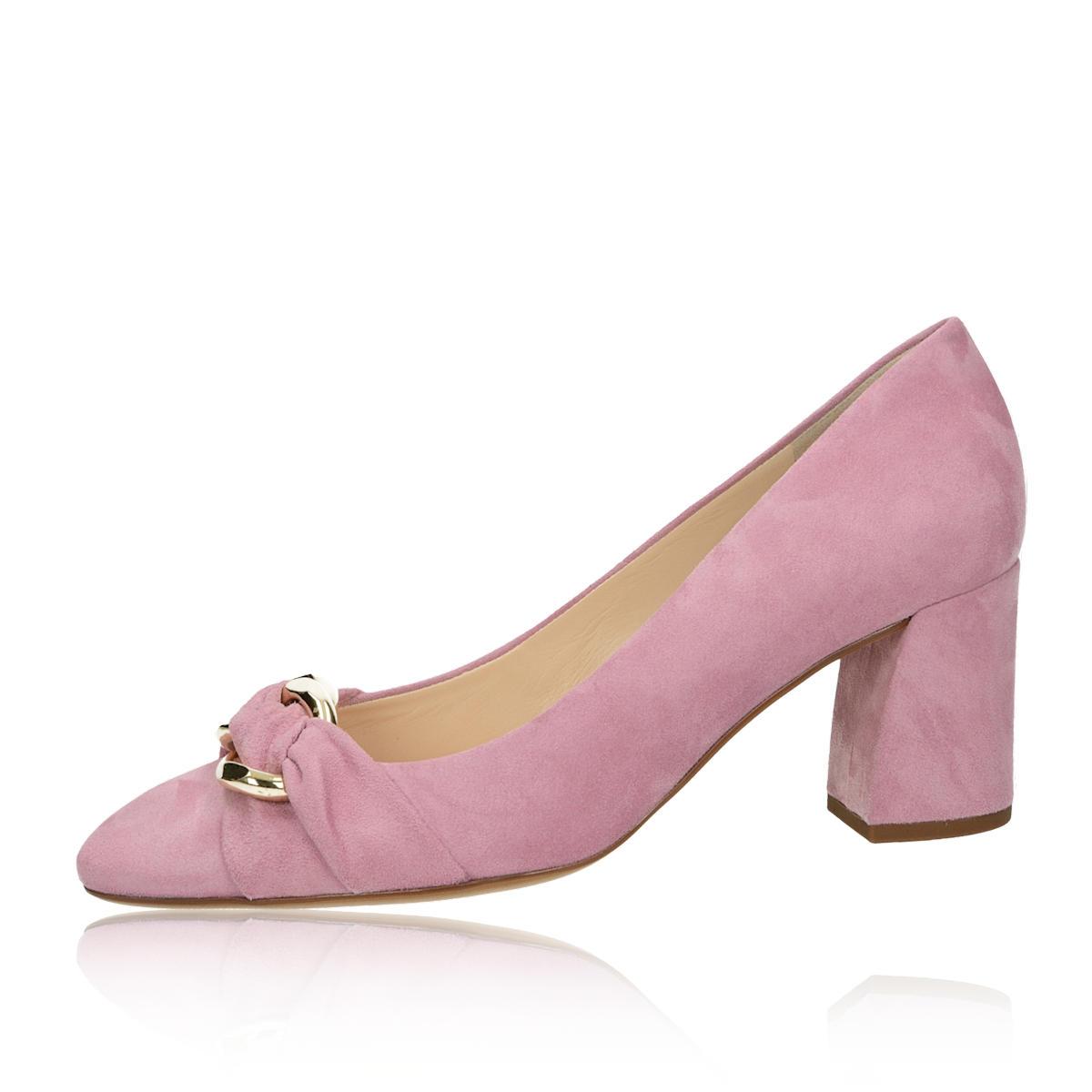 Högl dámské semišové lodičky - růžové